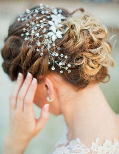 Bride with hair piece