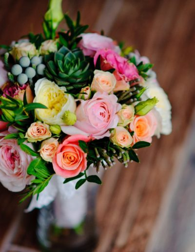Mixed Coloured Wedding Flower Bouquet