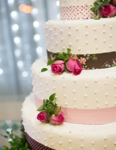 Contemporary and Modern wedding cake on table