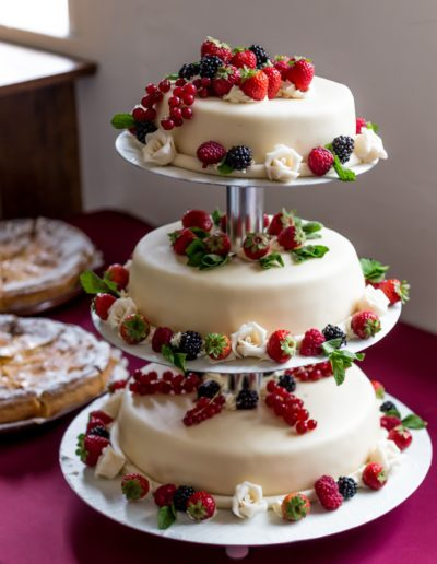 Contemporary-and-modern-wedding-cake-with-fruit